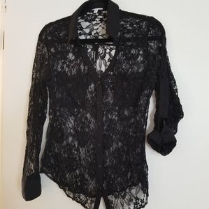 Express Lace Button down